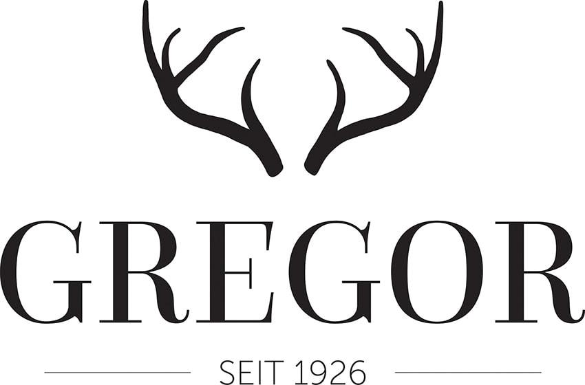logo restaurant gregor black
