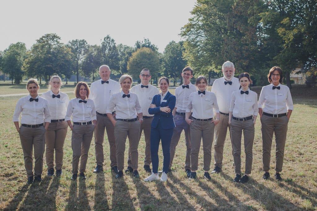 group photo service team